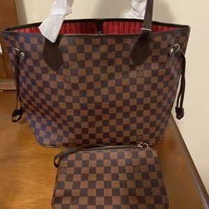 Louis Vuitton Neverfull MM Tote Set